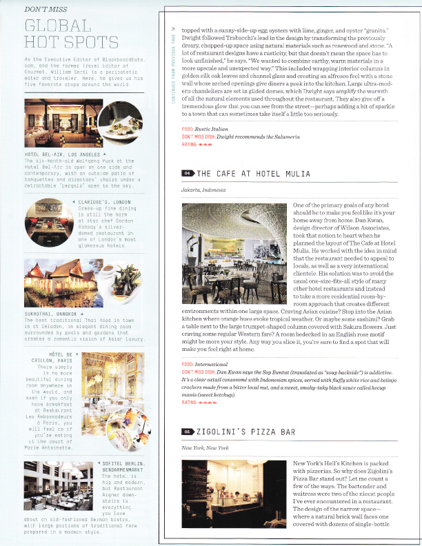 Restaurant Design Guide : Lawrence karol design bureau july august the